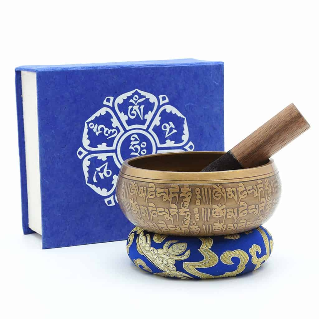 Dhyana House's Tibetan Meditation Singing Bowl Set