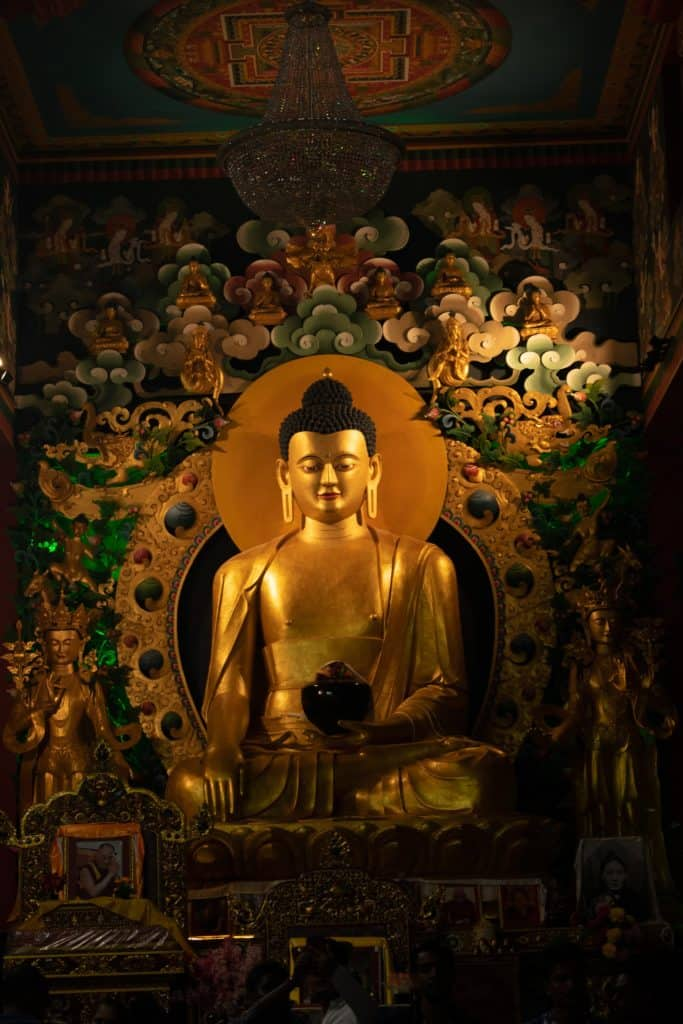 The Lord Buddha In A Very Modest Attitude